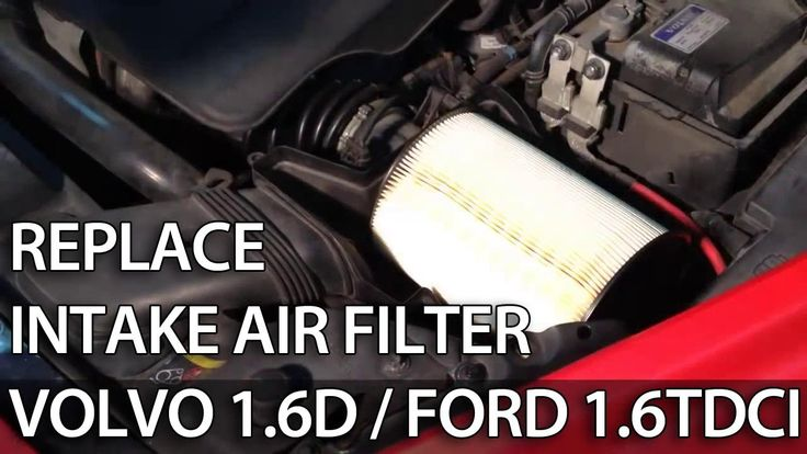 How to change air filter 1.6D 1.6TDCi 1.6L (#Volvo #Ford Focus C-Max #Mazda V50 S40 C30).