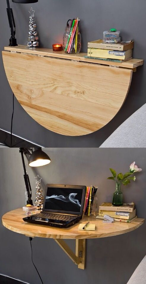 Drop leaf desk/table. Great idea for kids room!