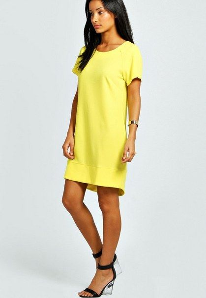 Tina Crepe Shift Dress | 29 Bright Yellow Dresses To Help You Channel Kate Middleton