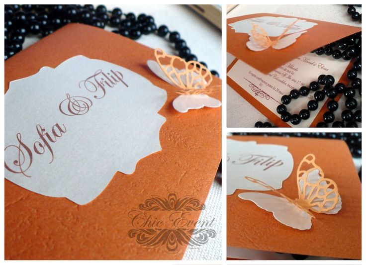 Wedding invitation card on colored cardboard with colored accesories.