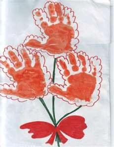 Hand print flower. Might change it a little.