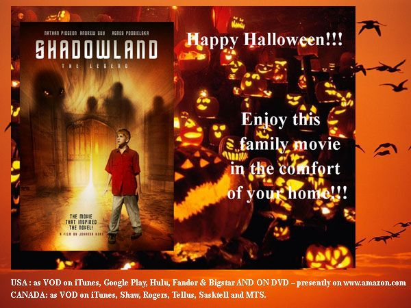 """Halloween fun for the entire family in the comfort of your home: """"Shadowland: The Legend"""" -- family/fantasy film"""