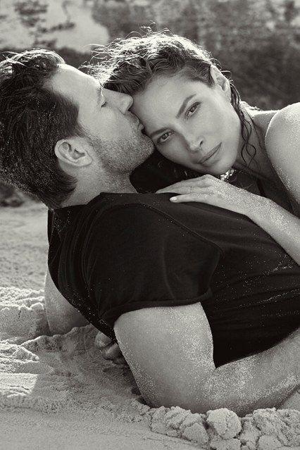 Christy Turlington Burns is back as the face of Calvin Klein's Eternity fragrance, alongside husband Ed Burns