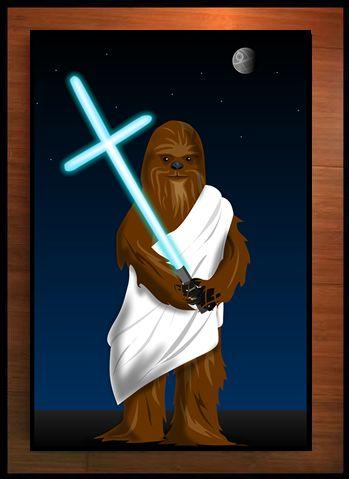 Wookiee Jesus - Signed Print