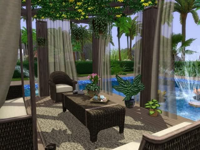 Poolside deck the sims ideas pinterest decks chang for Sims 4 balcony