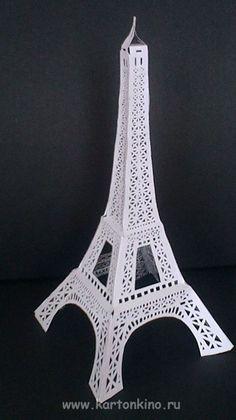 Эйфелева башня из бумаги