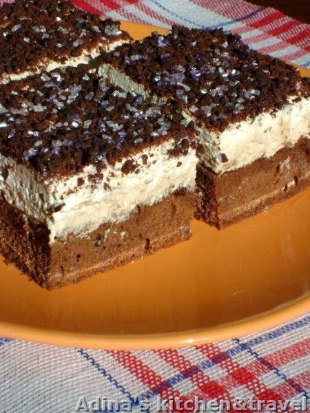 Adina's kitchen & travel: Prajitura cu crema de ness si frisca ( Boema )