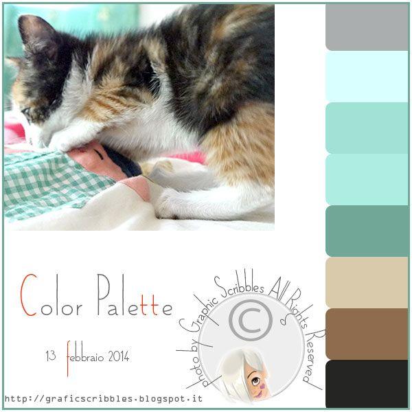Color palette of 12 febberaio 2014 - small kitten http://graficscribbles.blogspot.it/2014/02/palette-colori-small-kitten.html