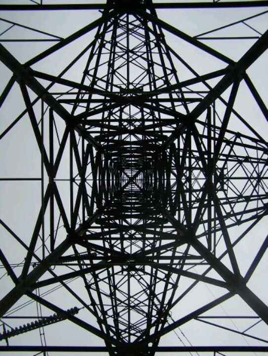 Pylon - the only one in the UK I believe which spans a canal? Huddersfield Narrow Canal in Stalybridge (Heather Walker)