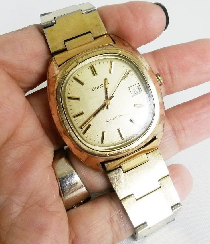 Vtg Bulova N6 17Jewels Mens Day Date Automatic Wrist Watch Swiss 1976 #Bulova #Casual