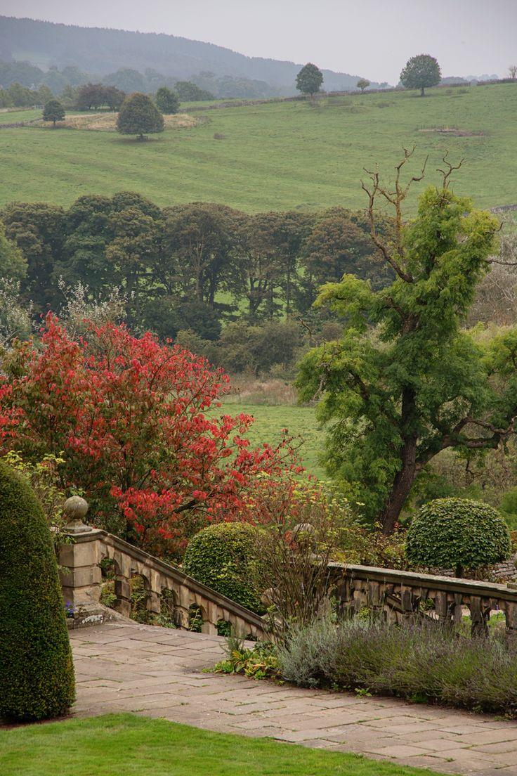 gardens at Haddon Hall, Derbyshire