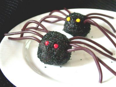 Halloween Party Food - Spider Truffles