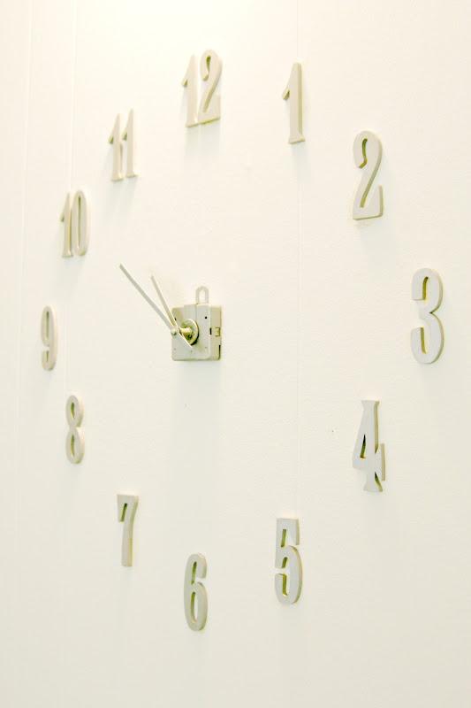 frameless diy clock but colorful for mu0027s room
