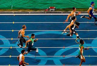 Blog Esportivo do Suíço:  Alan Fonteles desacelera e fica fora da final dos 100m em sua estreia no Rio