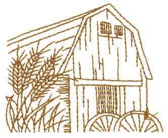 Line Drawing of Barn | John Deer's Adorable Ideas - Embroidery Designs, Education and ...
