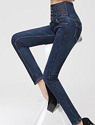 Dambyxor  ( Denim ) Jeans  -  Tjock  -  Stretch