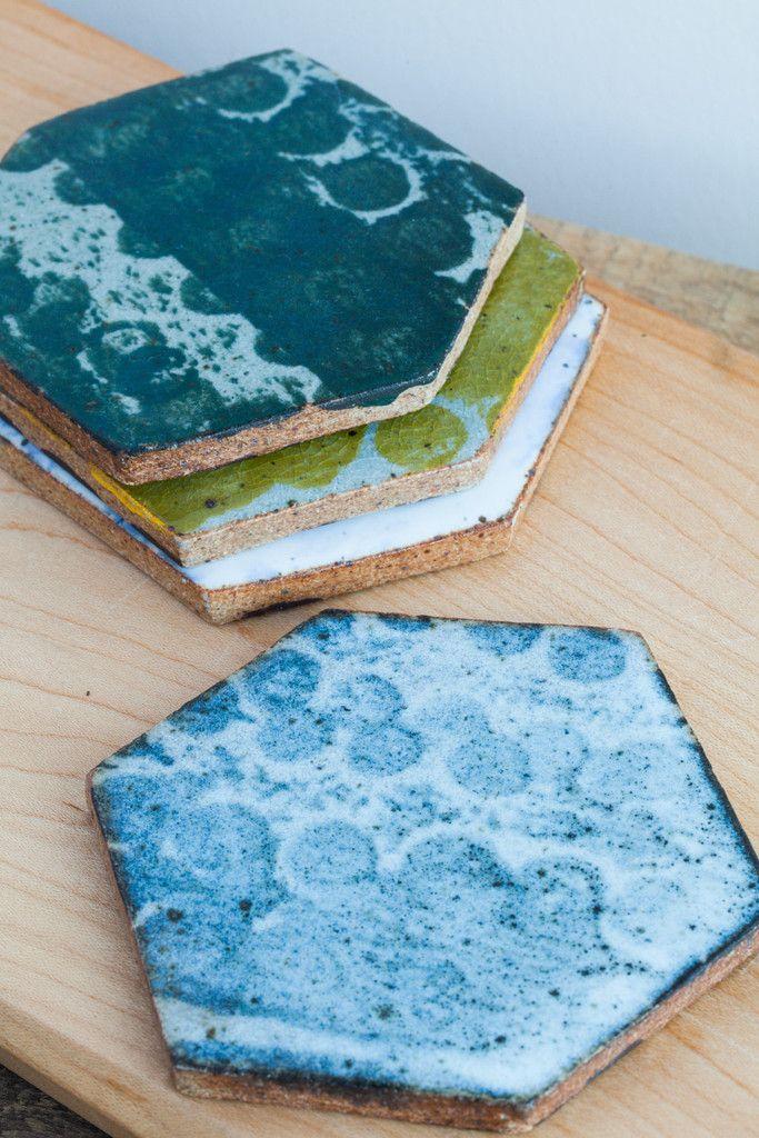 BZIPPY Multi Ceramic Coaster Set | Oroboro Store
