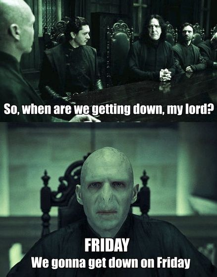 Gotta love a Harry Potter/Rebecca Black collaboration.