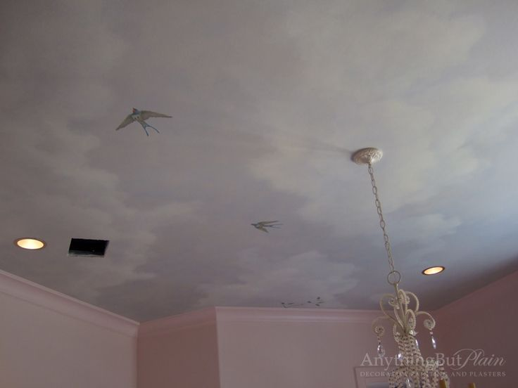 17 best images about details on pinterest painted for Ceiling mural clouds