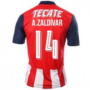 16-17 Chivas Guadalajara CD Cheap Home #14 Zaldivar Replica Shirt [G00451]