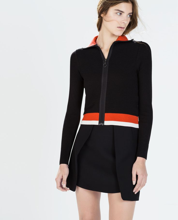 ZARA - WOMAN - SHORT KNIT JACKET