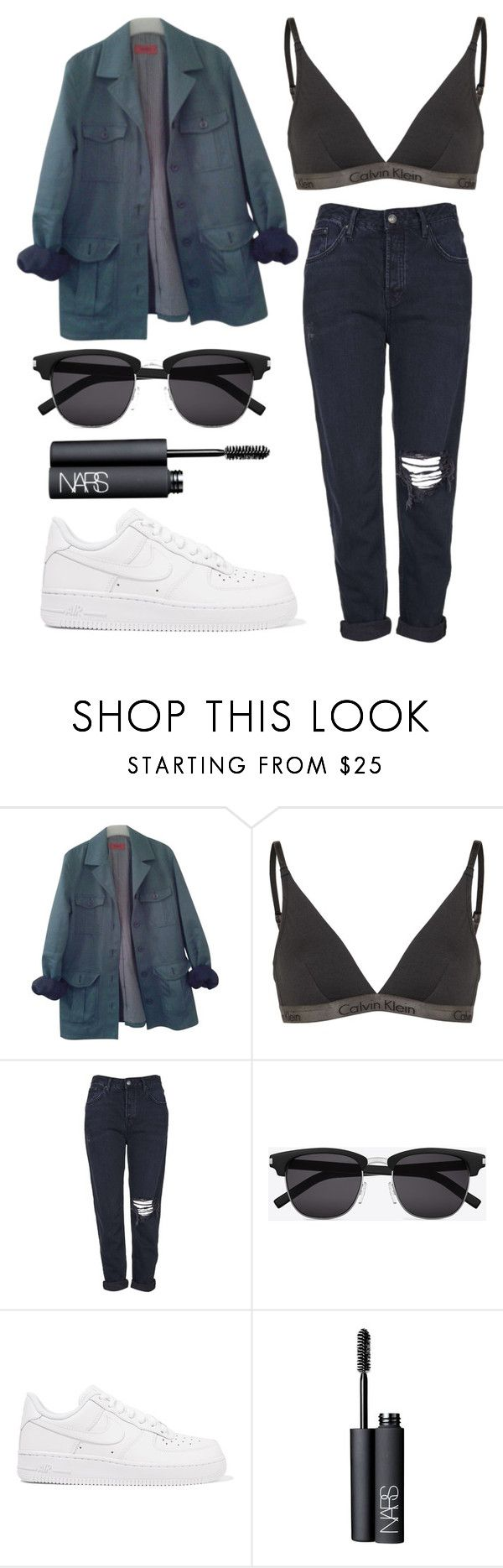 """Untitled #522"" by feel-my-freedom ❤ liked on Polyvore featuring HUGO, Calvin Klein, Topshop, Yves Saint Laurent, NIKE and NARS Cosmetics"