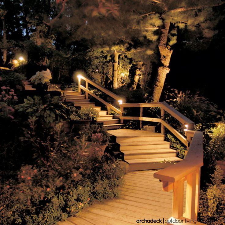 Landscape Lights Too Dim : E f a d b bdcc stair lighting ideas g