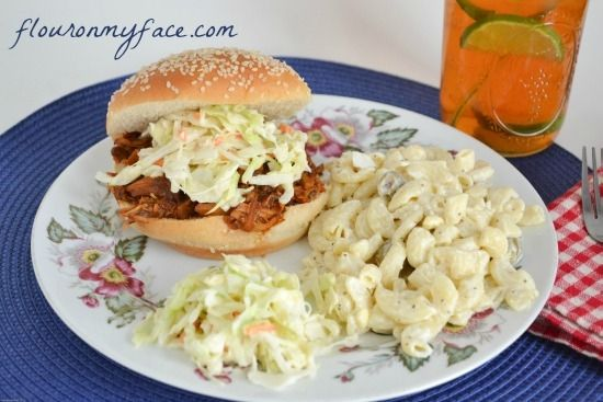 Family Recipes: Easy Crock Pot Pulled Pork Sandwich Recipe by Flour On My Face
