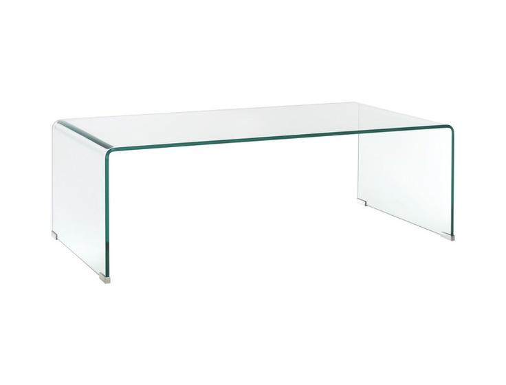 Gala sofabord i herdet glass. Dimensjoner: L110 x H35 x B55cm. Kr. 2755,-