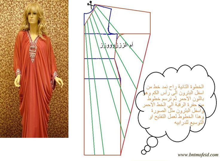 The caftan, pattern instructions