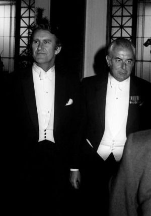 1975. The night before the dismissal, Malcolm Fraser & Gough Whitlam attend the lord mayor's dinner in Melbourne. Gough even gave Malcolm a ride back to Canberra in the Prime Ministerial jet.