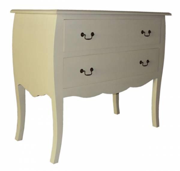 Dresser 2 Drawers 85 x 100 x 50 White Wash F1776 R