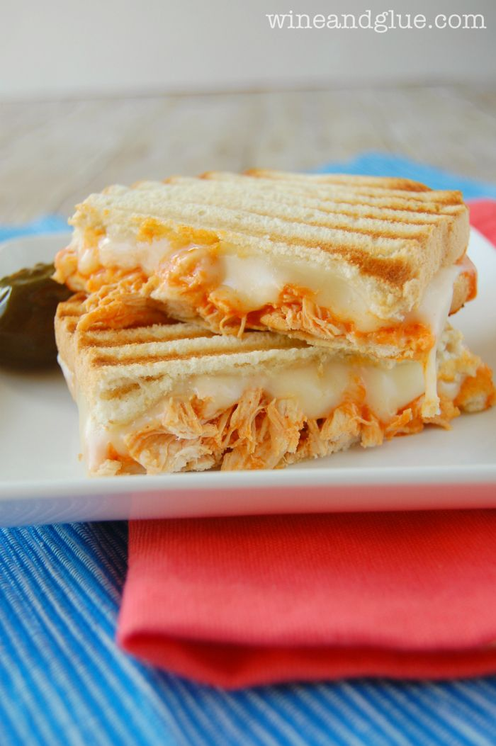 Buffalo Chicken Panini ~ A delicious and simple sandwich you won't be able to get enough of!