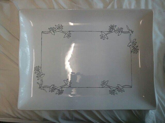 Flower Platter - outline complete only