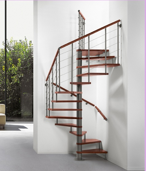 17 best images about spiral stairs on pinterest spiral for Square spiral staircase plans
