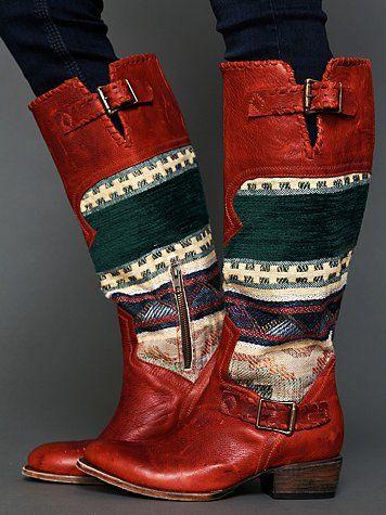 Free People Quixote Blanket Boot Calçados