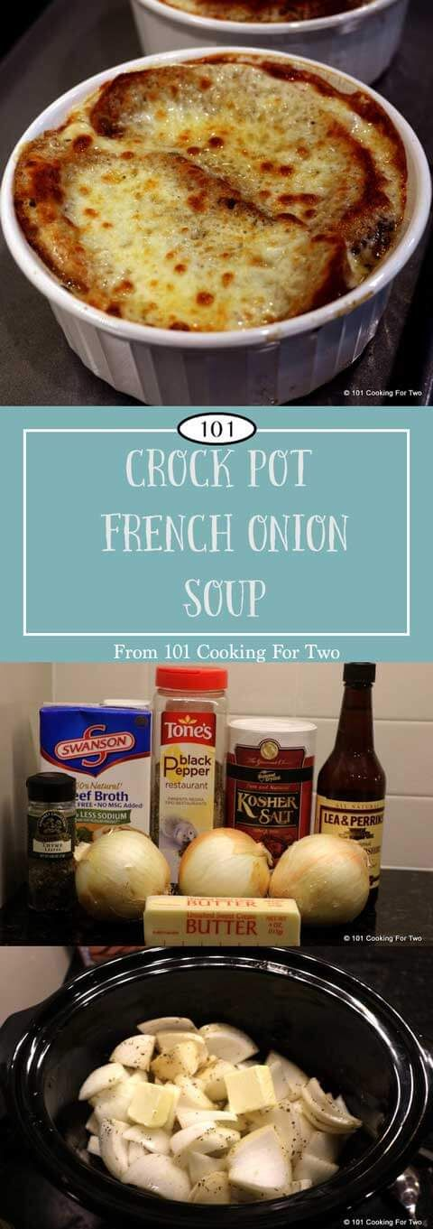 Oh so simple and oh so good. Take this crock pot French onion soup out for a spin today and impress your friends and family. via @drdan101cft