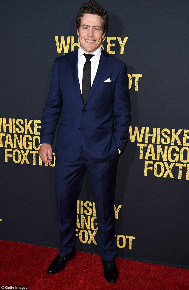 Summer Bay to New York: Stephen Peacocke at the premiere of Whiskey Tango Foxtrot, where he joined fellow Aussie Margot Robbie and the film's leading lady Tina Fey at the Lincoln Centre in Manhattan