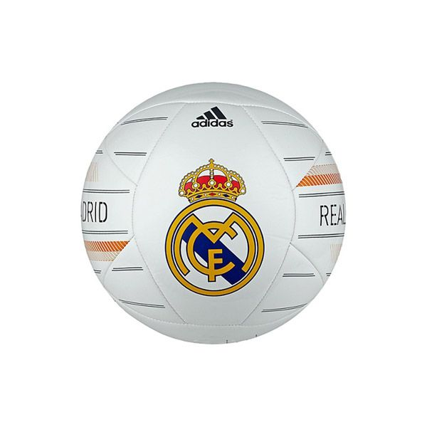 Adidas Real Madrid Soccer Ball - Show your pride with Real Madrid merchandise from Adidas. Real Madrid is considered the only real football club by its fans and it has the global track record to support that claim. Whether you are just a fan or a player yourself, draw your inspiration from the best and use the equipment the best use to win with Real Madrid from Adidas. - Found at myWebRoom.com