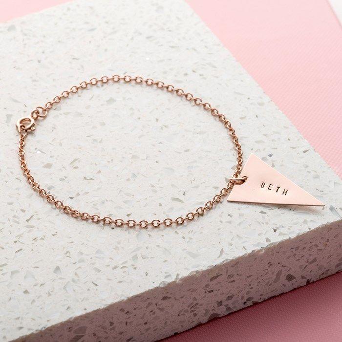 Personalised Posh Totty Designs Triangle Bracelet | GettingPersonal.co.uk