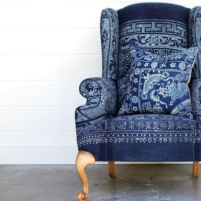 true blue blue wing chair blue and white wing chair blue and white pillow pattern on pattern