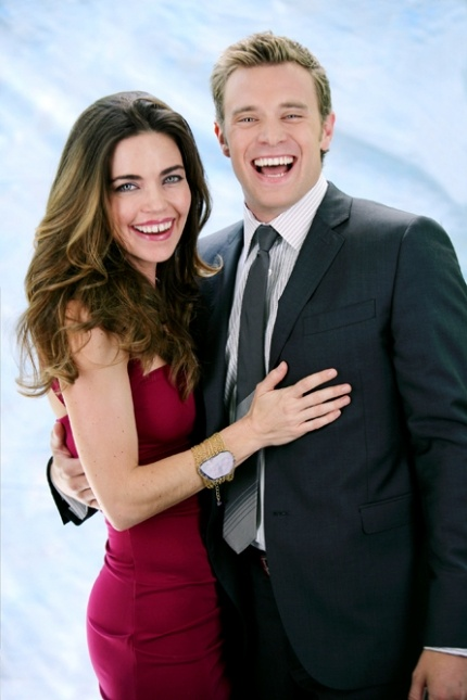 """Amelia Heinle & Billy Miller (Victoria Newman & Billy Abbott, The Young and the Restless). I miss the """"old"""" Billy Abbott!"""
