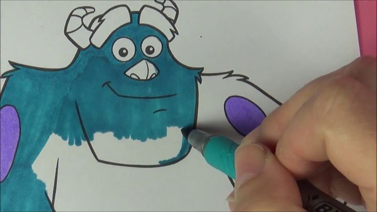 Coloring Monsters Inc. Mike and Sulley