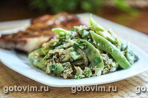 Зеленая фасоль с яйцом в воке. Фото-рецепт