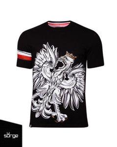"""Koszulka """"Orzeł Sport Opaska"""" czarna"""