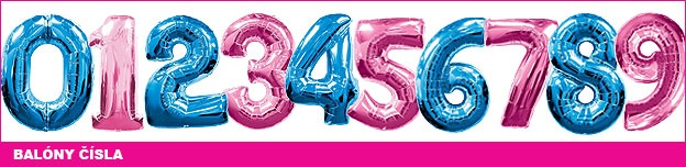 Balóny čísla na party
