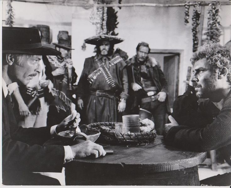 Sergio LEONE - GIan Maria VOLONTE - Lee Van Cleef Photo QUELQUES DOLLARS DE PLUS