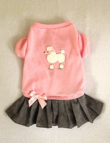 - Adorable Dress with the comfort of a T Shirt - Pink Top, Gray Attached Skirt…