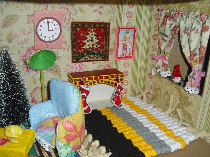 dollshouse-made entirely from recycled and repurposed items.  Wonderful!