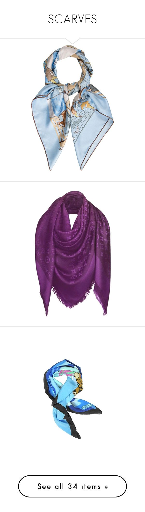 """""""SCARVES"""" by katya-ukraine on Polyvore featuring accessories, scarves, blue, colorful scarves, hermes scarves, hermes shawl, colorful shawl, blue scarves, cassis и louis vuitton scarves"""